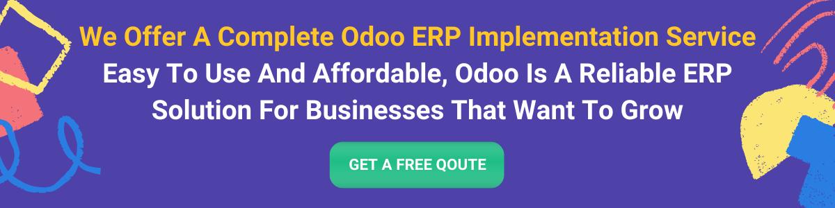 Odoo Customization Odoo Implementation Odoo Training Odoo ERP